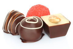 Assorted chocolate candies Stock Photos