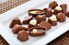 Assorted chocolate candies Royalty Free Stock Images
