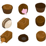 Assorted chocolate candy royalty free illustration