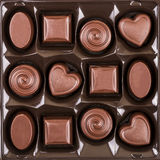 Assorted chocolate candy box Stock Image