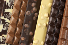 Assorted chocolate close-up Royalty Free Stock Photography