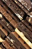 Assorted chocolate close-up Royalty Free Stock Images