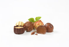 Assorted chocolate pralines Royalty Free Stock Photography
