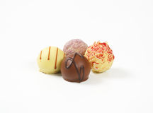 Assorted chocolate pralines Royalty Free Stock Photos