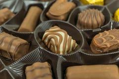 Assorted chocolate pralines. Close up Stock Image