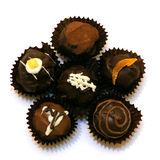 Assorted chocolate truffles Royalty Free Stock Images