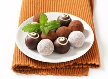 Assorted chocolate truffles Stock Photography