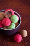 Assorted chocolate truffles Royalty Free Stock Photos