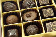 Assorted chocolates Stock Photography