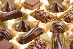 Assorted chocolates Stock Photo