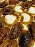 Assorted chocolates. Open box of assorted chocolates Royalty Free Stock Photography