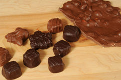 Assorted chocolates Stock Photos
