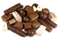 Assorted chocolates Royalty Free Stock Photos
