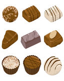 Assorted Chocolates. Web Icons -- for your website, powerpoint, leaflet etc Stock Image