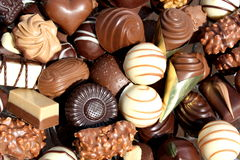Assorted chocolates Royalty Free Stock Image