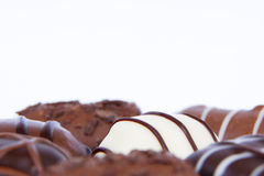 Assorted chocolates Royalty Free Stock Images