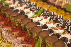 Assorted chocolates and desserts Stock Photo