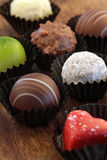 Assorted chocolates in wrappers Royalty Free Stock Photography