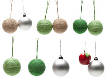 Assorted Christmas balls Stock Images