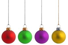 Assorted Christmas Baubles 1 Stock Photography