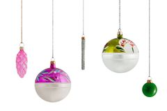 Assorted Christmas Baubles 2 Royalty Free Stock Photos