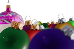 Assorted Christmas Baubles 3 Royalty Free Stock Photos