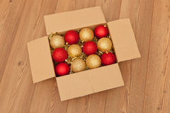 Assorted Christmas baubles Royalty Free Stock Images