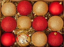 Assorted Christmas baubles Royalty Free Stock Image