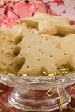 Assorted Christmas biscuits in a plate. Stock Photos