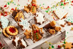 Assorted Christmas cookies Stock Image