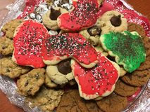 Assorted Christmas Cookies royalty free stock photography