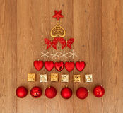 Assorted Christmas decorations Royalty Free Stock Images