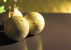 Assorted Christmas decorative ornaments Royalty Free Stock Photo