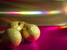 Assorted Christmas decorative ornaments Royalty Free Stock Image