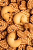 Assorted Christmas or Easter cookies with cocoa Stock Photo