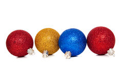 Assorted christmas ornaments Royalty Free Stock Images