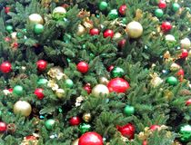 Assorted Christmas Ornaments. Adorn a family Christmas Tree royalty free stock images