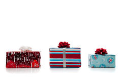 Assorted Christmas presents Royalty Free Stock Photos
