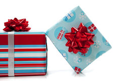 Assorted Christmas presents Stock Images