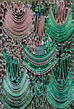 Assorted Chrysoprase jewelry on display Stock Photos