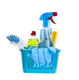 Assorted cleaning products Stock Photos