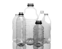 Assorted Clear Plastic Bottles Royalty Free Stock Photography