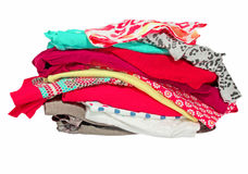 Assorted clothes.Isolated. Stock Photo