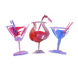 Assorted cocktails Stock Photos