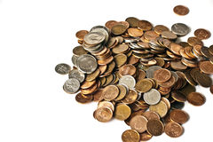 Assorted Coins Royalty Free Stock Photography
