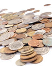 Assorted coins. World assorted coins royalty free stock photography