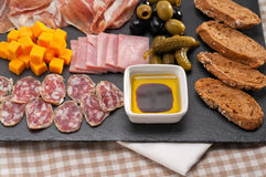 Assorted cold cut platter Stock Photo
