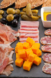 Assorted cold cut platter Stock Images