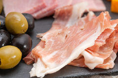 Assorted cold cut platter Stock Photography