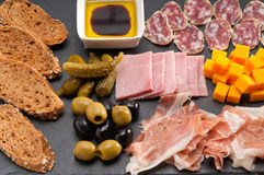Assorted cold cut platter Royalty Free Stock Image
